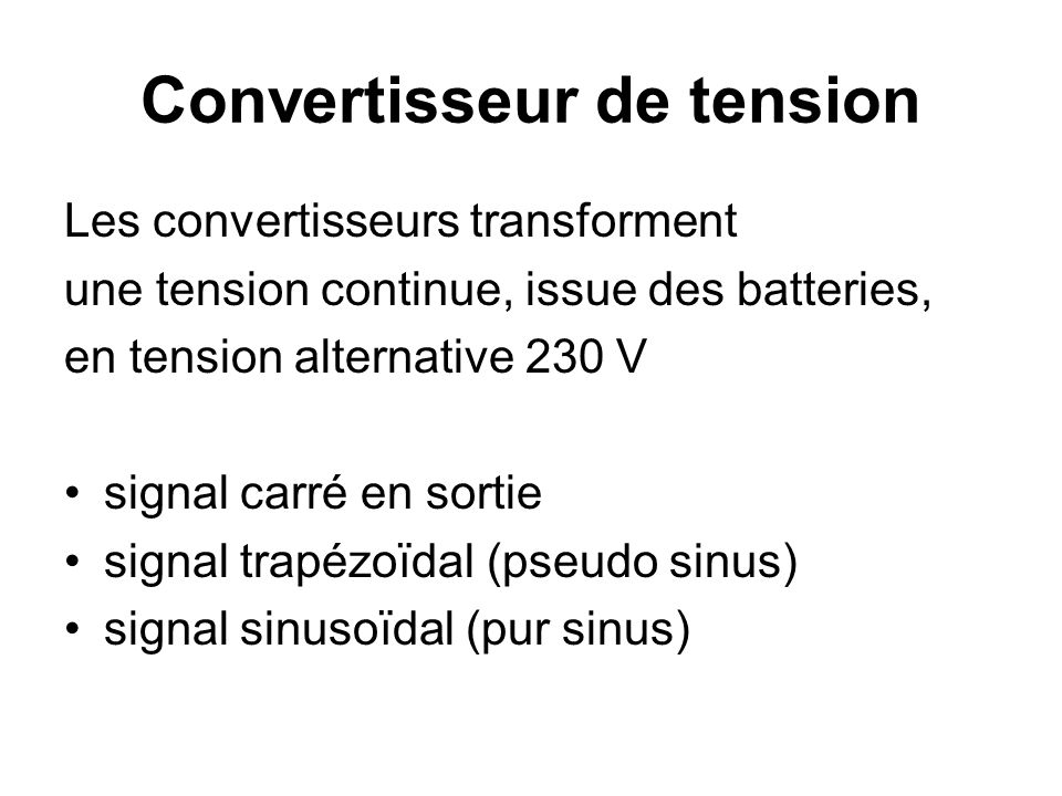 Convertisseur de tension