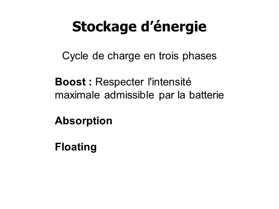 Cycle de charge en trois phases