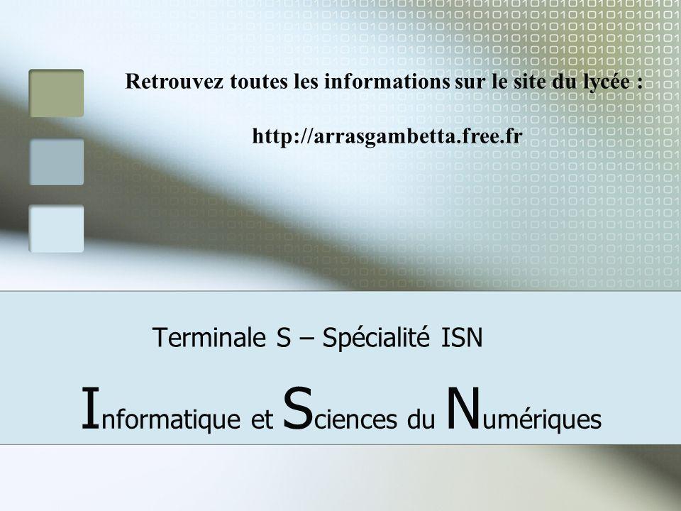 Terminale S – Spécialité ISN