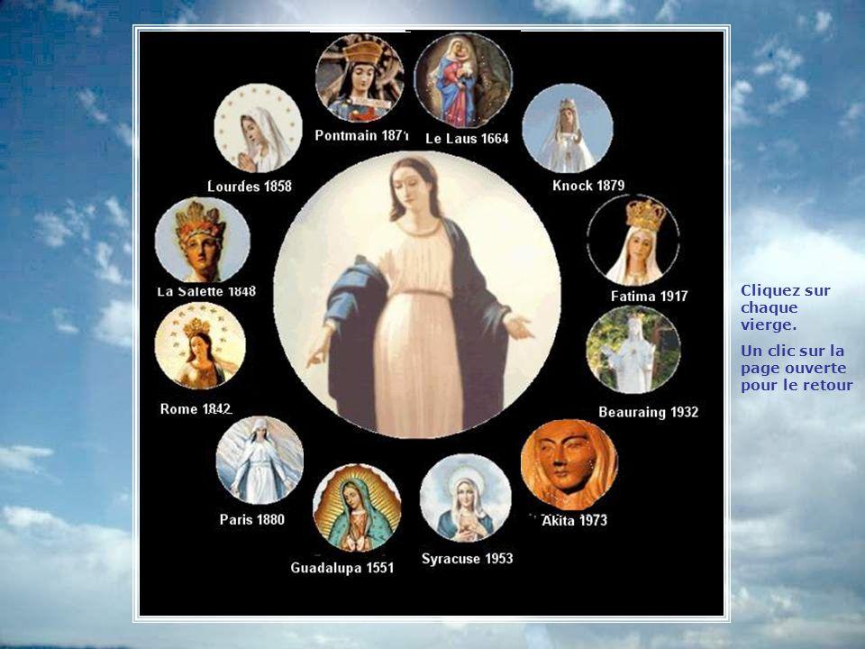 Cliquez sur chaque vierge.