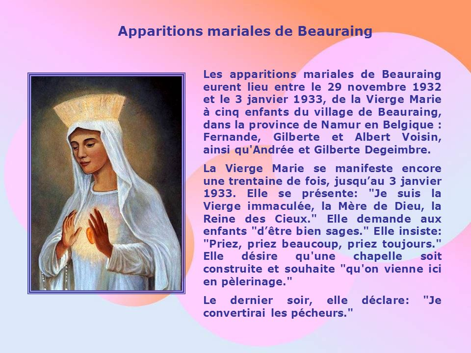 Apparitions mariales de Beauraing
