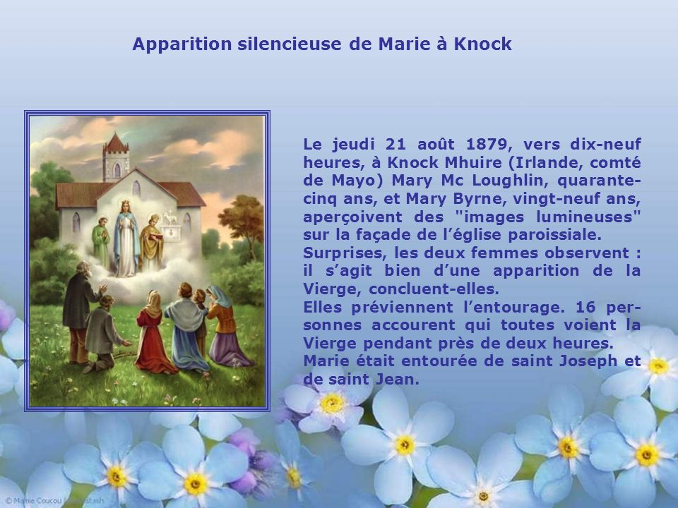 Apparition silencieuse de Marie à Knock