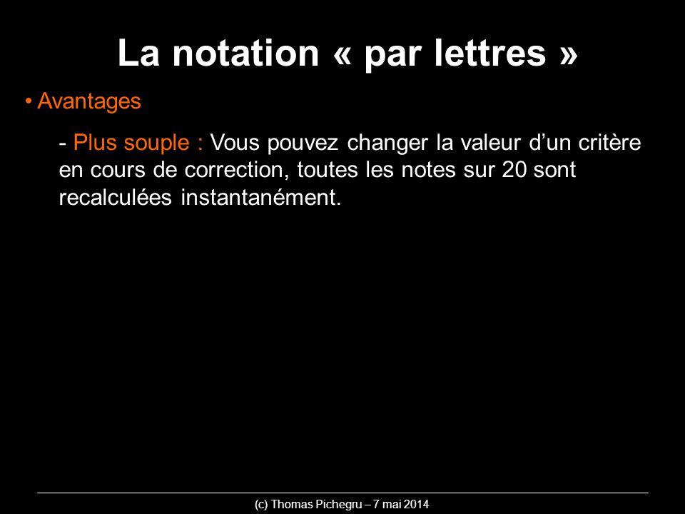 La notation « par lettres »