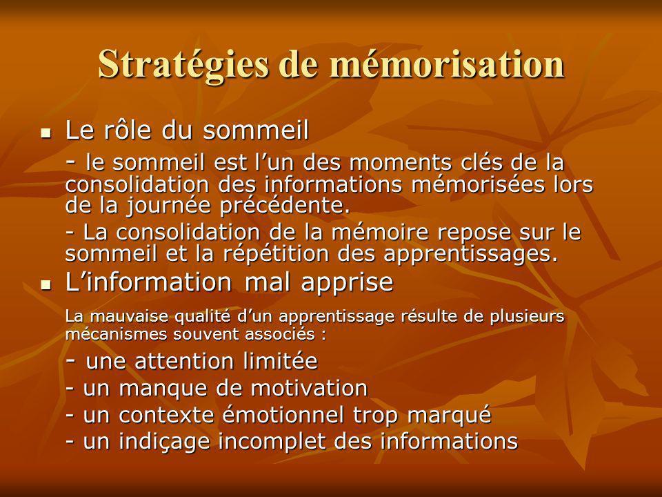 Stratégies de mémorisation