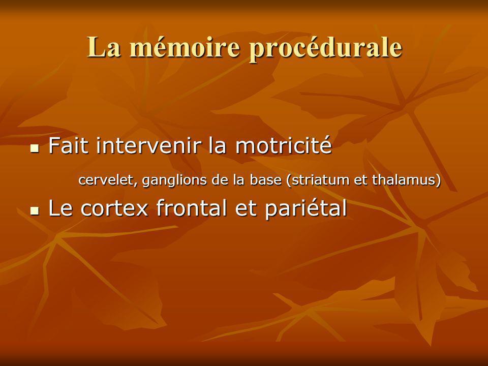 La mémoire procédurale