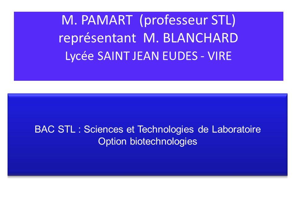 M. PAMART (professeur STL) représentant M