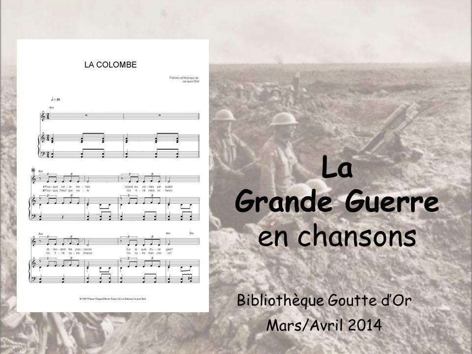 La Grande Guerre en chansons