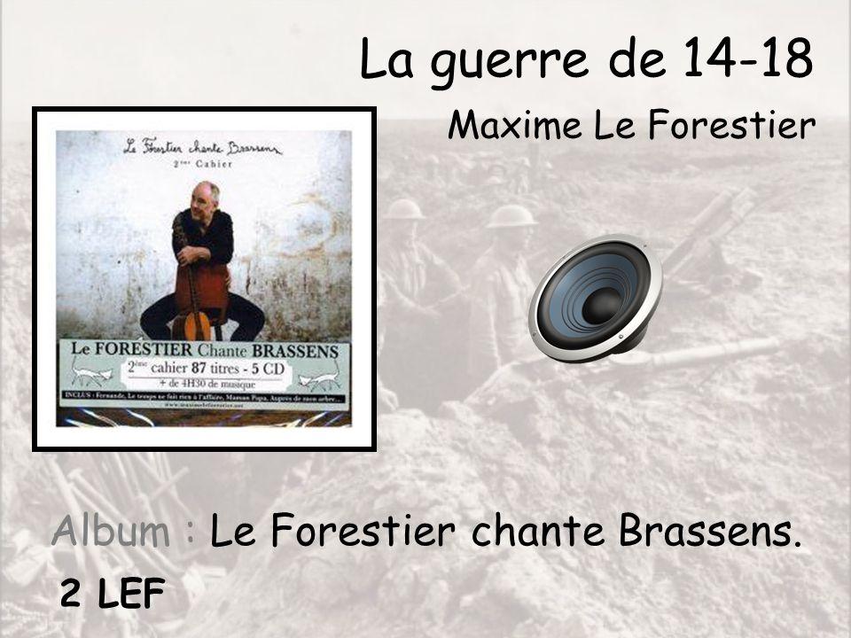 Album : Le Forestier chante Brassens.