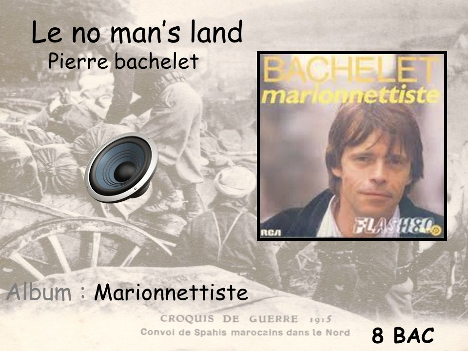 Le no man's land Pierre bachelet Album : Marionnettiste 8 BAC