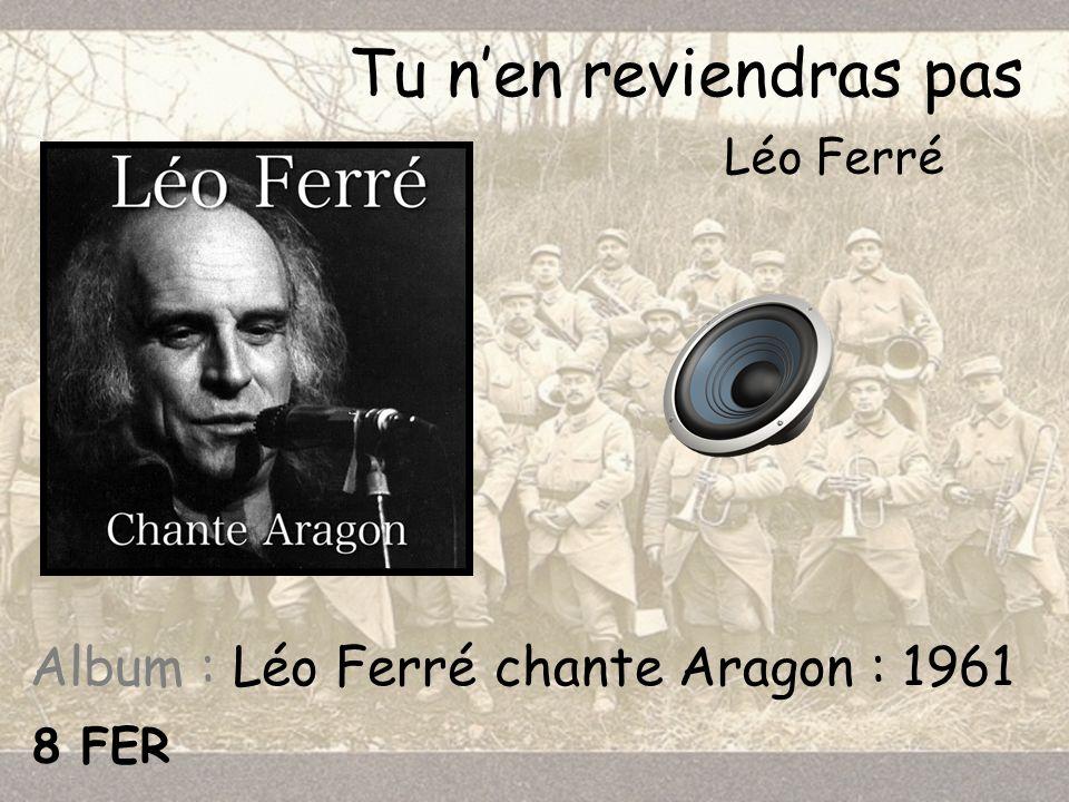 Album : Léo Ferré chante Aragon : 1961