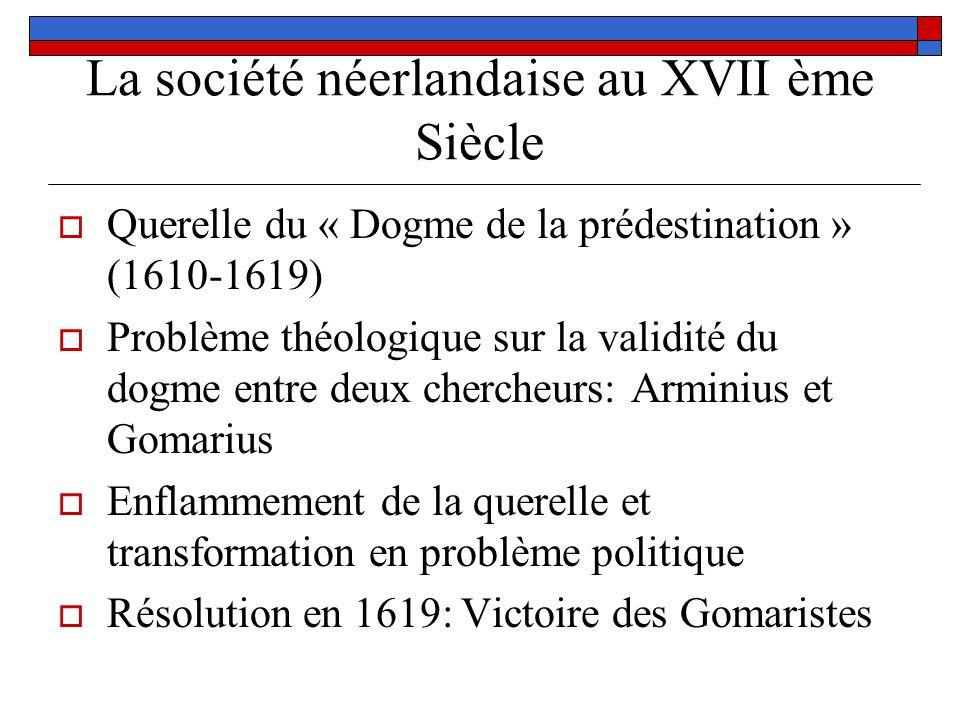 La société néerlandaise au XVII ème Siècle