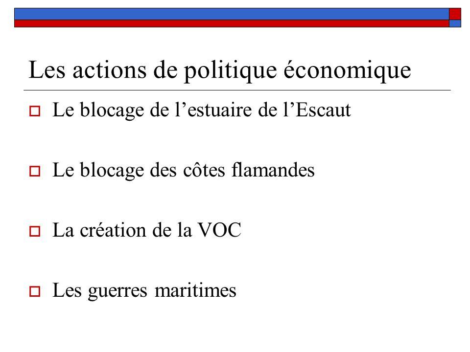 Les actions de politique économique