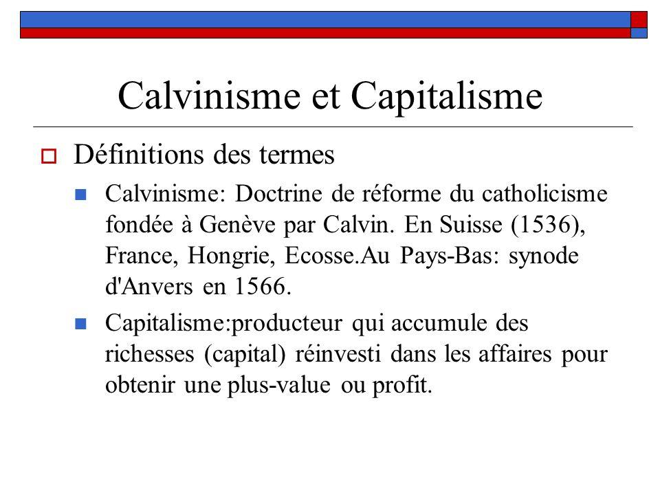 Calvinisme et Capitalisme
