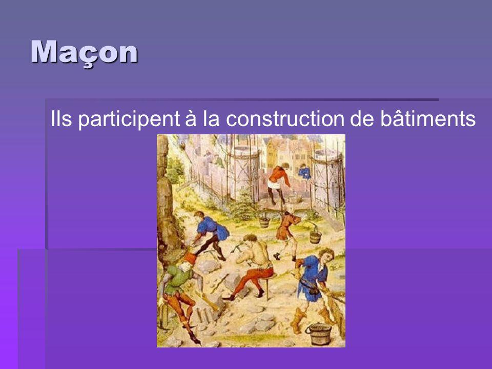 Maçon Ils participent à la construction de bâtiments