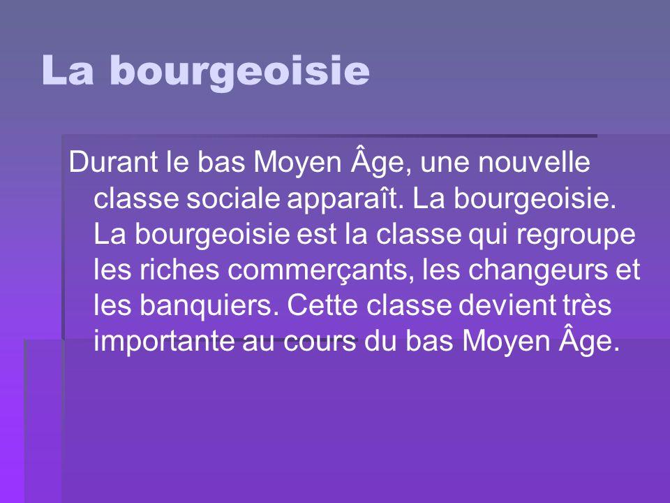 La bourgeoisie