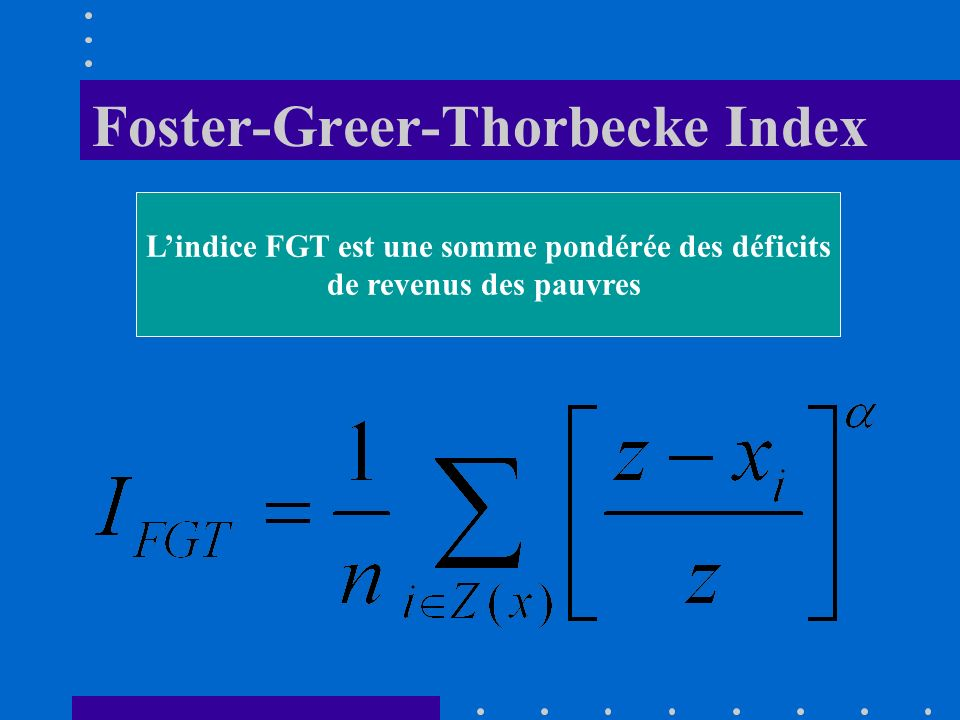 Foster-Greer-Thorbecke Index