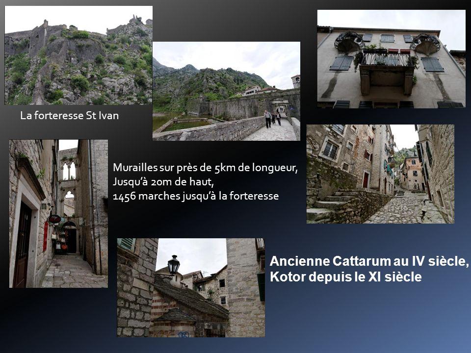 Ancienne Cattarum au IV siècle, Kotor depuis le XI siècle