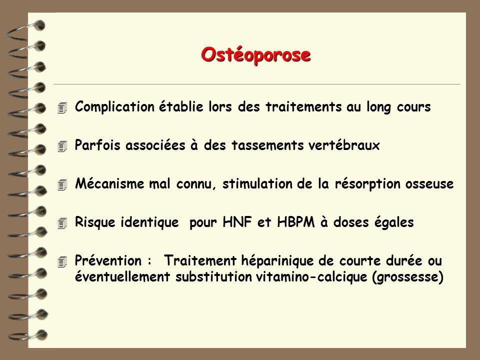 Ostéoporose Complication établie lors des traitements au long cours