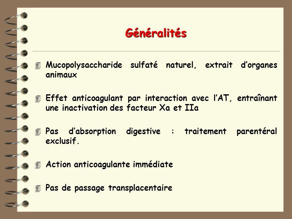 Généralités Mucopolysaccharide sulfaté naturel, extrait d'organes animaux.