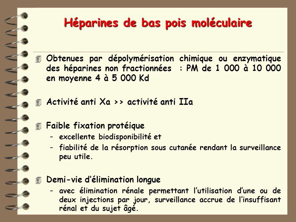 Héparines de bas pois moléculaire