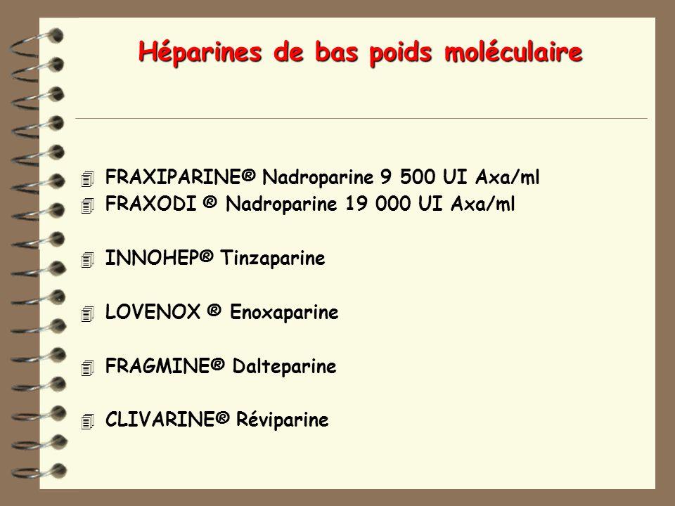 Héparines de bas poids moléculaire