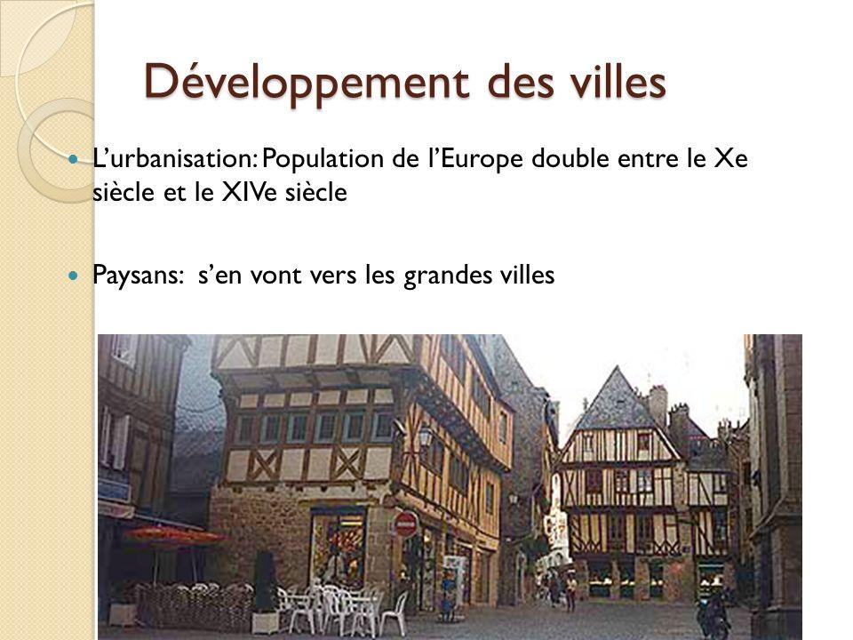 Développement des villes
