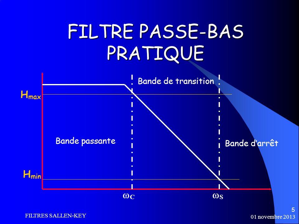FILTRE PASSE-BAS PRATIQUE