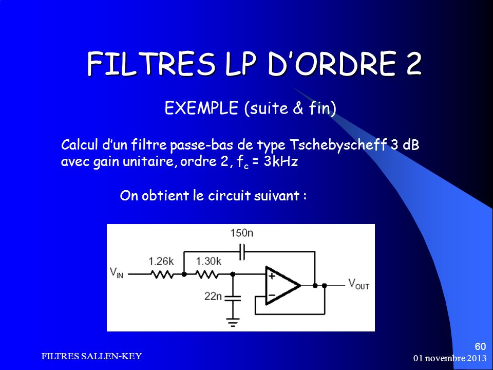 FILTRES LP D'ORDRE 2 EXEMPLE (suite & fin)