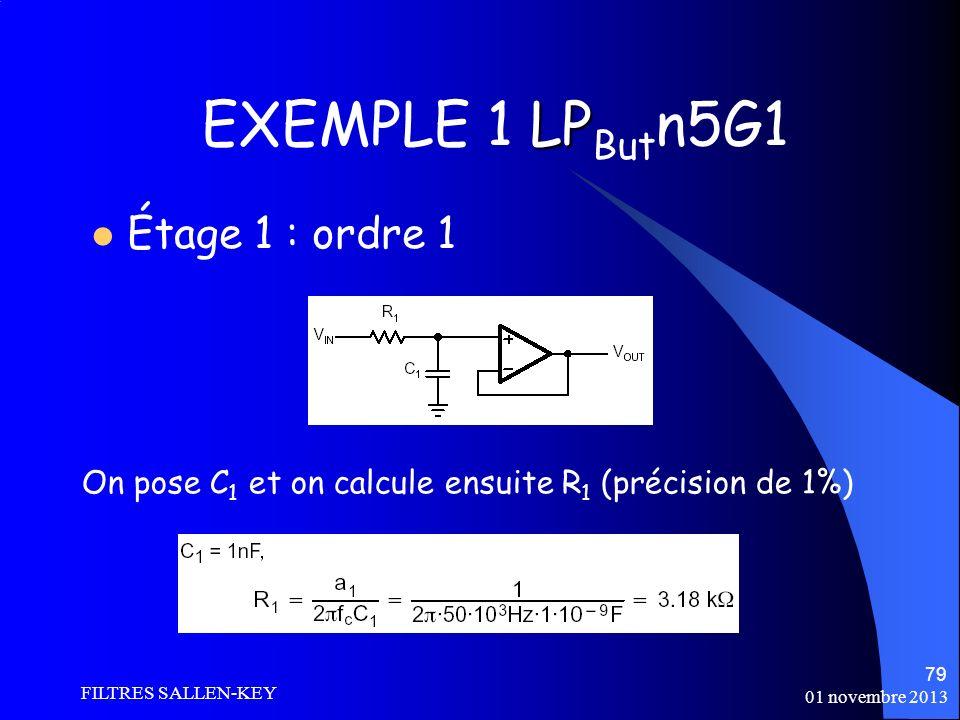 EXEMPLE 1 LPButn5G1 Étage 1 : ordre 1