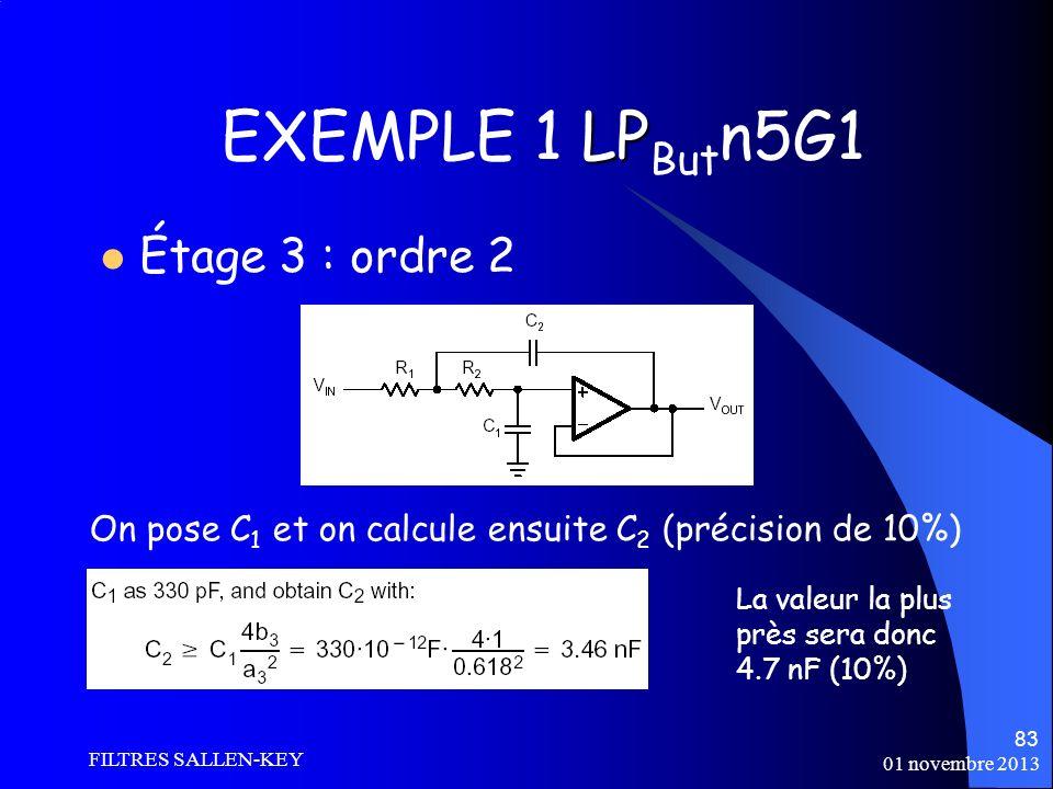 EXEMPLE 1 LPButn5G1 Étage 3 : ordre 2