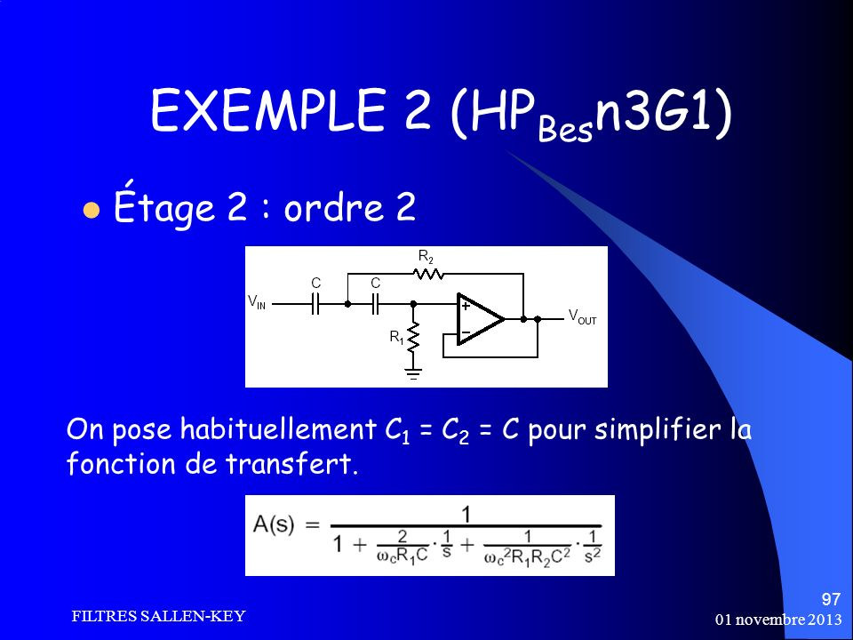 EXEMPLE 2 (HPBesn3G1) Étage 2 : ordre 2