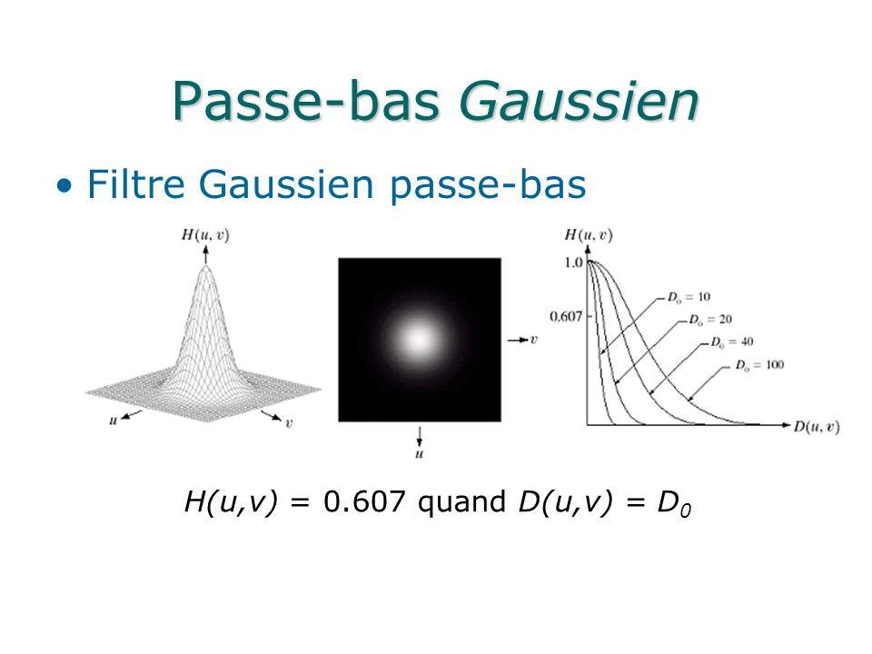 Passe-bas Gaussien Filtre Gaussien passe-bas