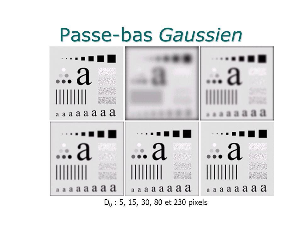 Passe-bas Gaussien D0 : 5, 15, 30, 80 et 230 pixels
