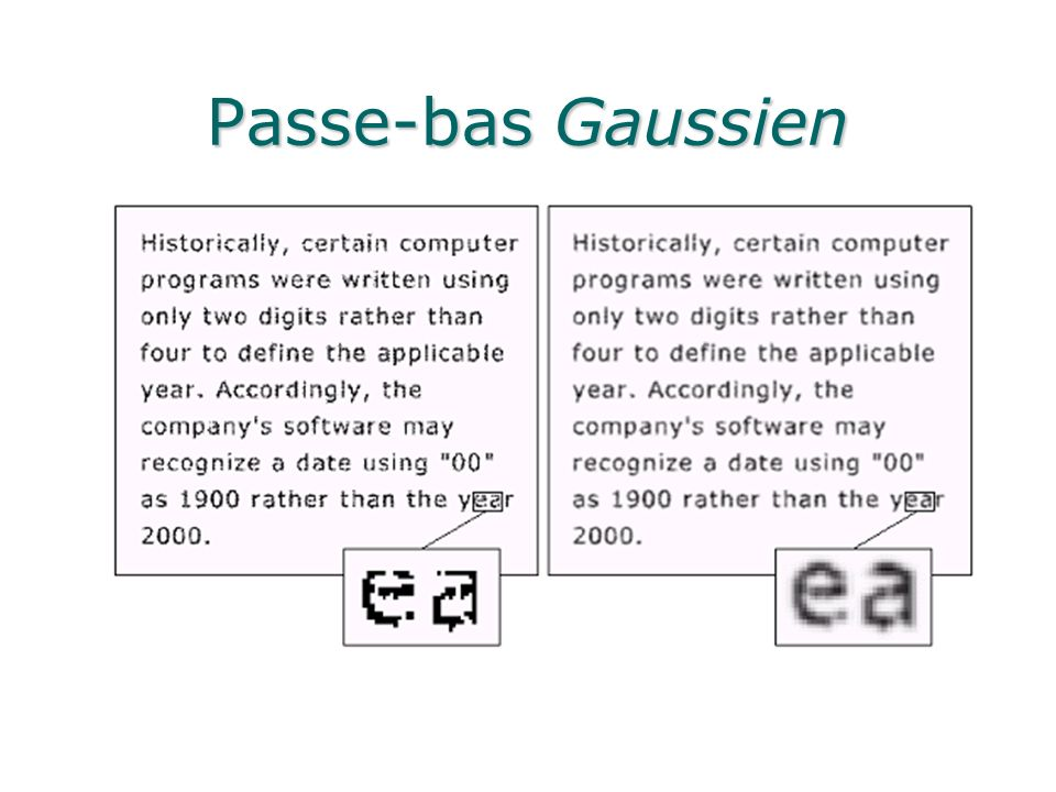 Passe-bas Gaussien