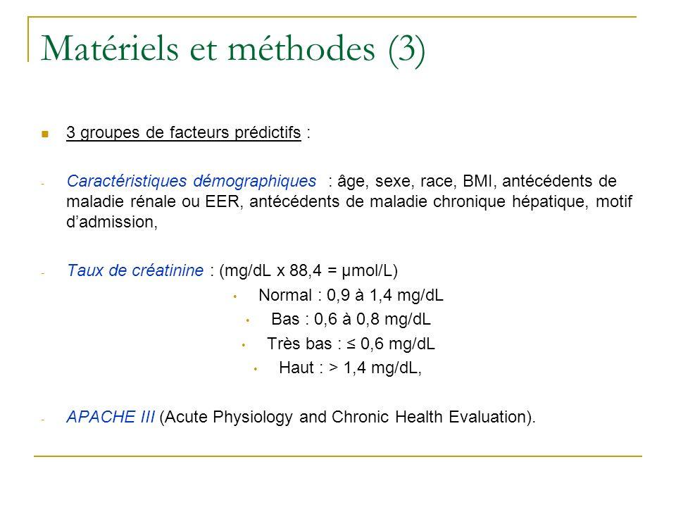 Matériels et méthodes (3)
