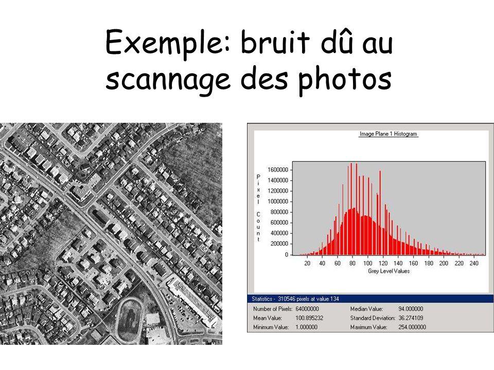 Exemple: bruit dû au scannage des photos