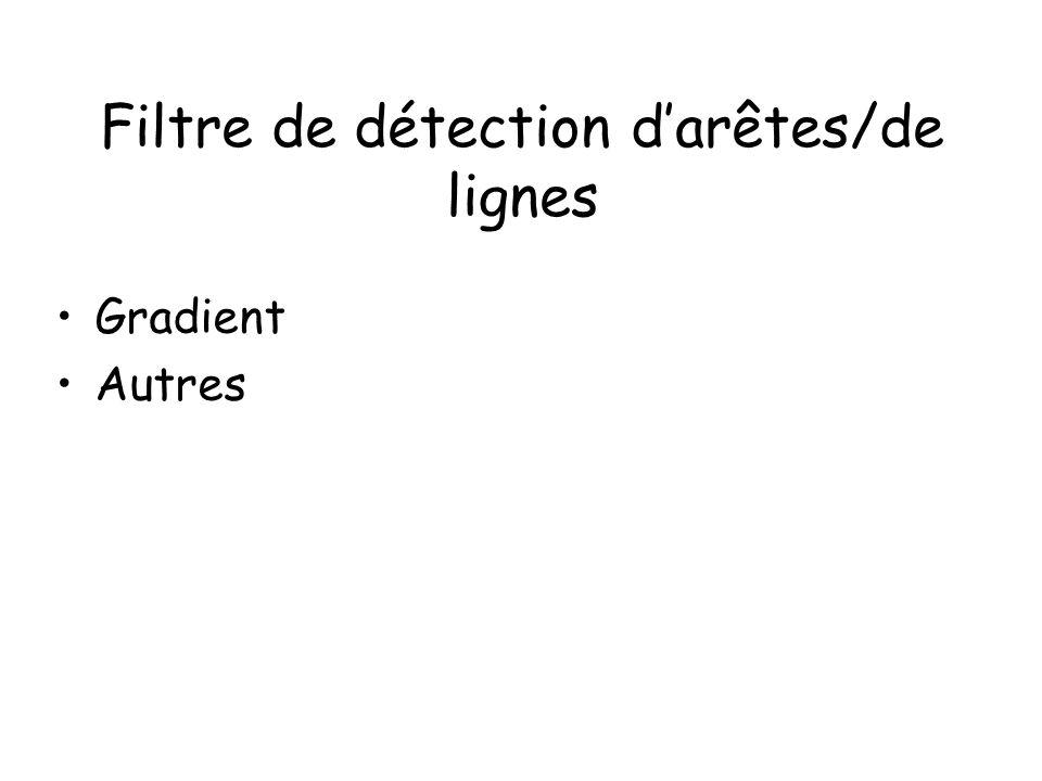 Filtre de détection d'arêtes/de lignes