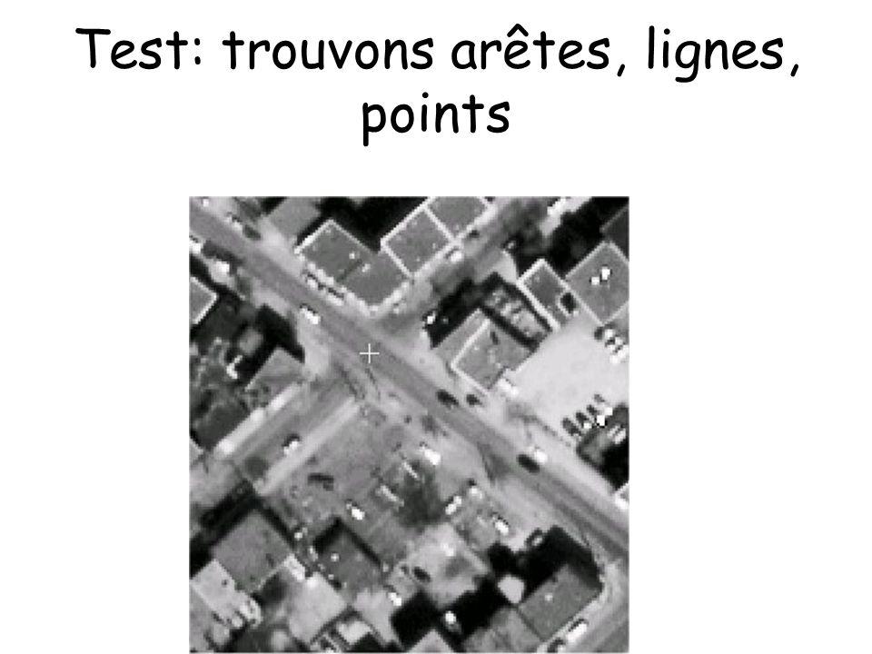 Test: trouvons arêtes, lignes, points