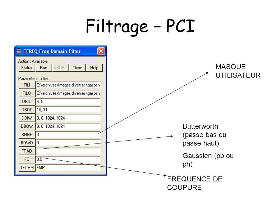 Filtrage – PCI MASQUE UTILISATEUR