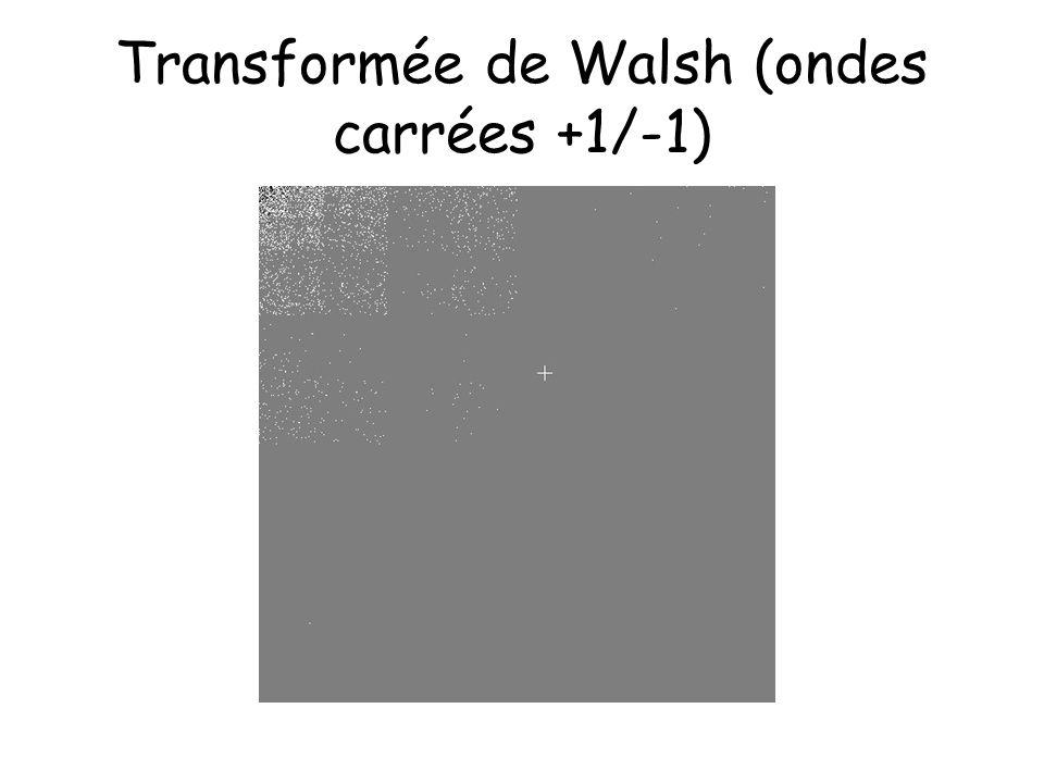 Transformée de Walsh (ondes carrées +1/-1)