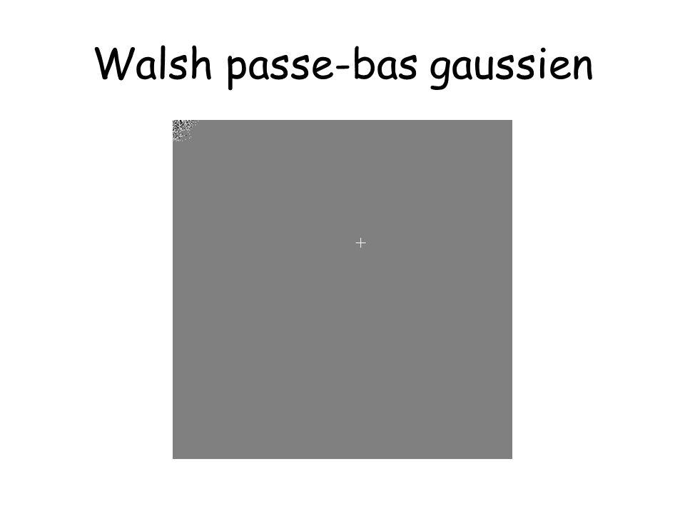 Walsh passe-bas gaussien