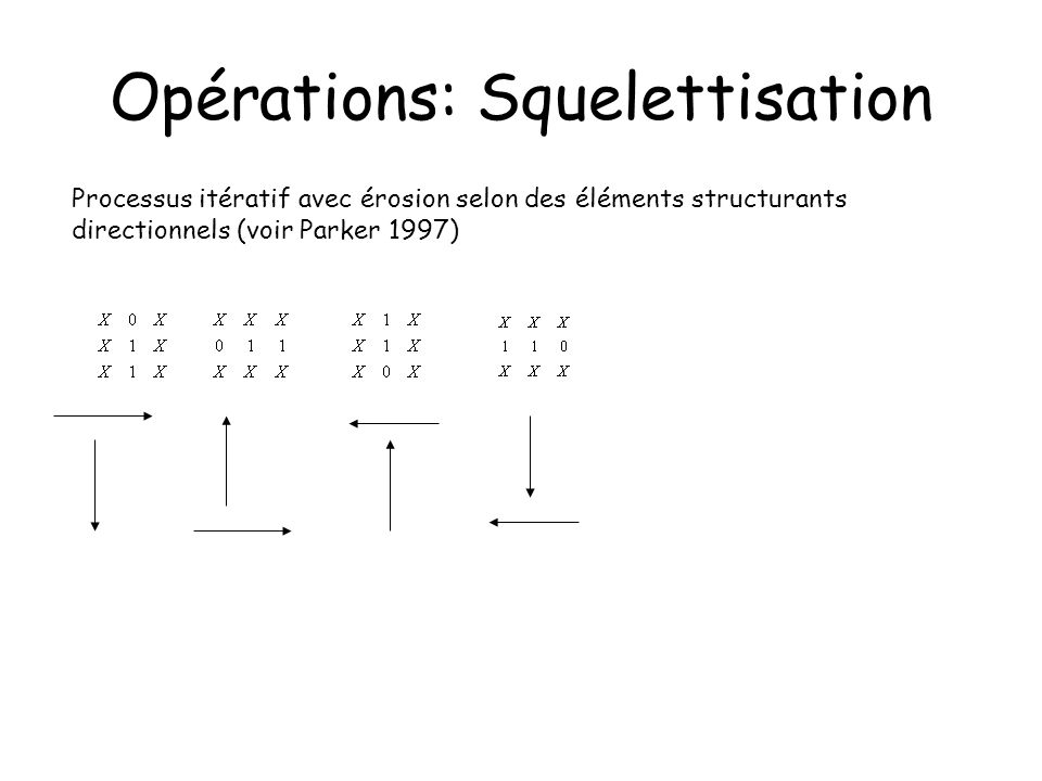 Opérations: Squelettisation