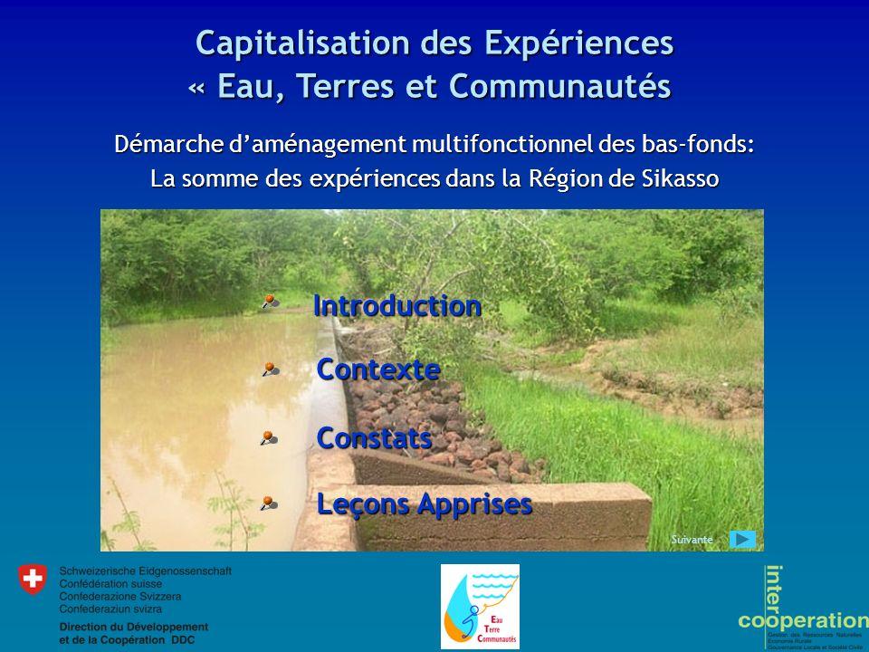 Capitalisation des Expériences « Eau, Terres et Communautés