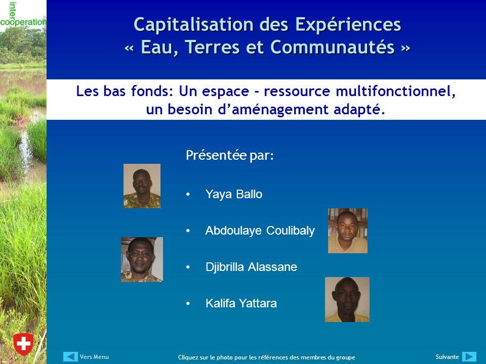 Capitalisation des Expériences « Eau, Terres et Communautés »