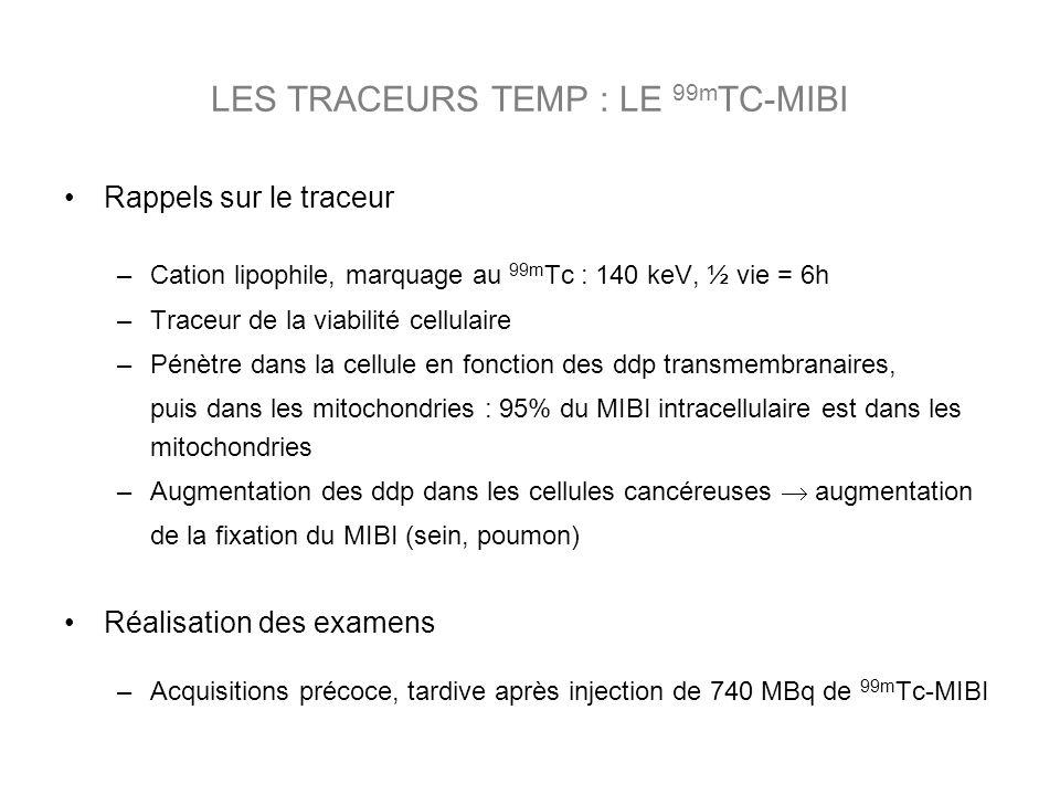 LES TRACEURS TEMP : LE 99mTC-MIBI