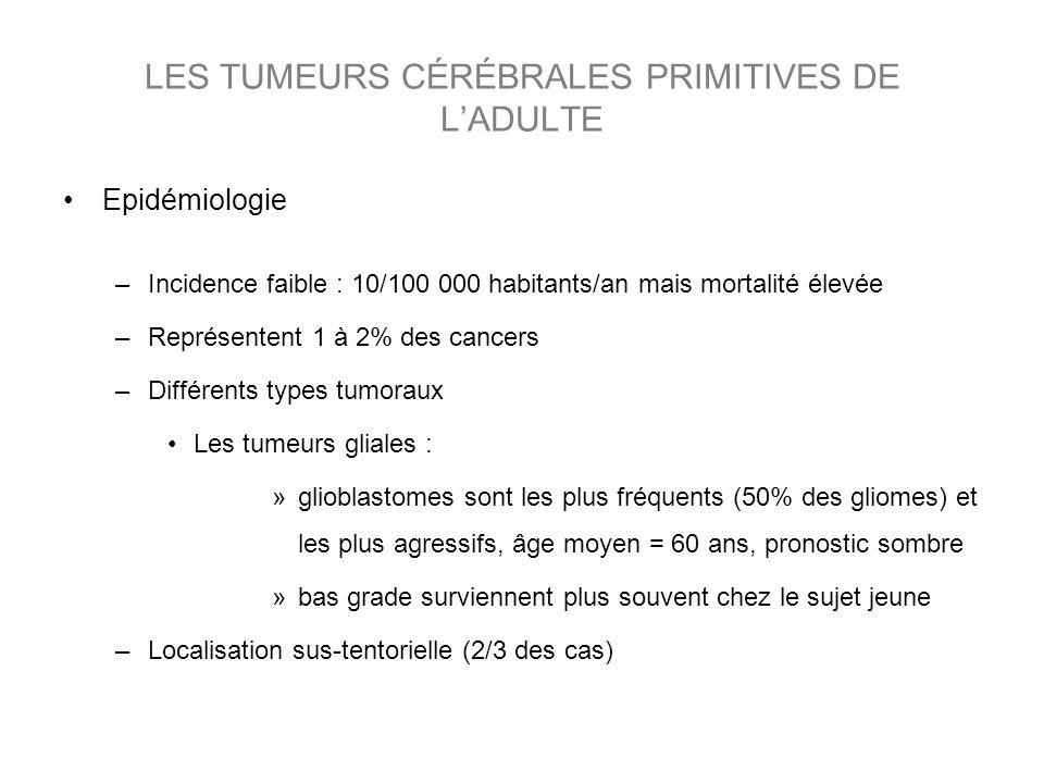 LES TUMEURS CÉRÉBRALES PRIMITIVES DE L'ADULTE