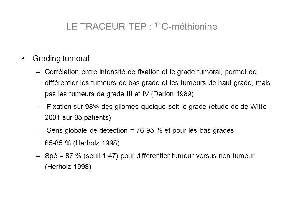 LE TRACEUR TEP : 11C-méthionine