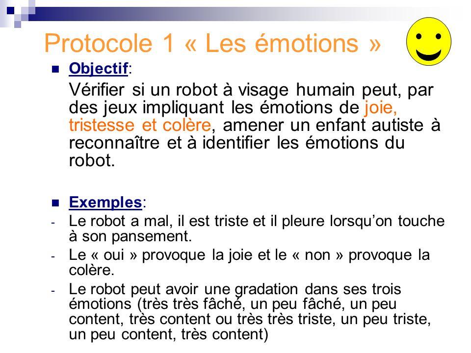 Protocole 1 « Les émotions »