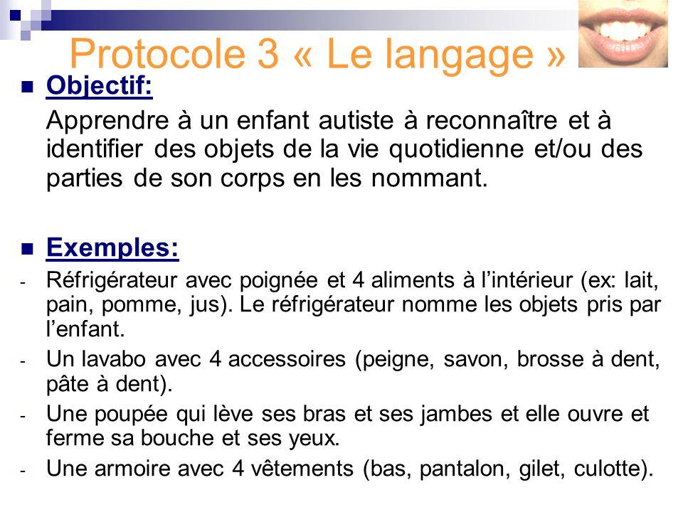 Protocole 3 « Le langage »