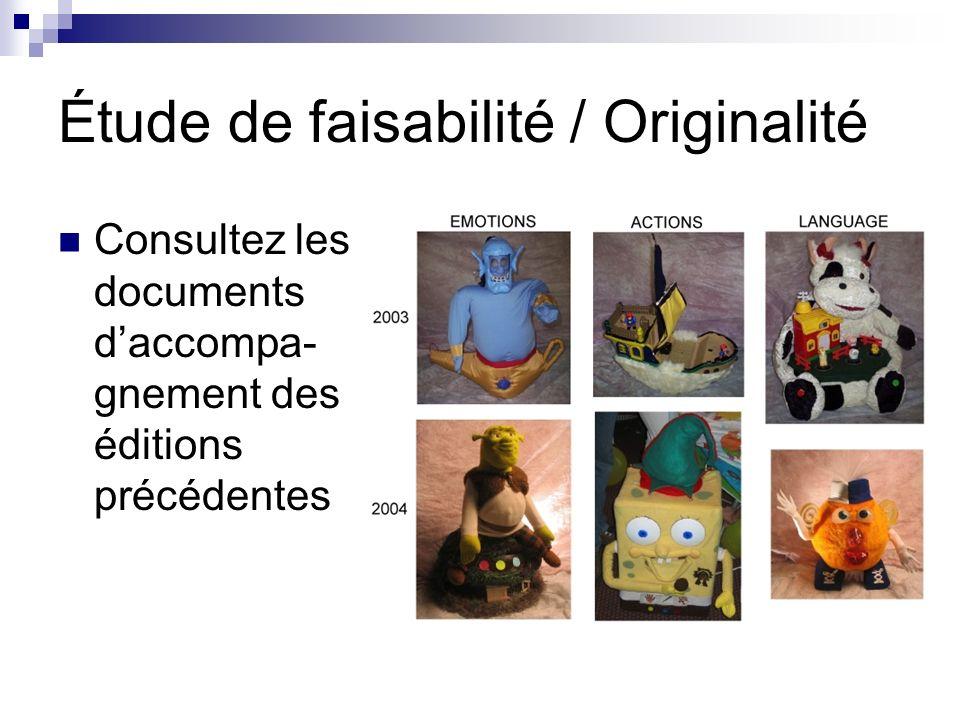 Étude de faisabilité / Originalité